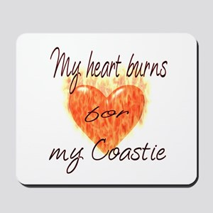 Burning Heart Coastie Mousepad
