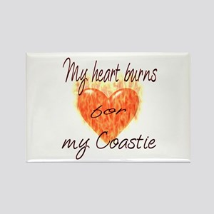 Burning Heart Coastie Rectangle Magnet