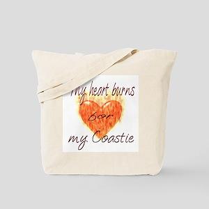 Burning Heart Coastie Tote Bag