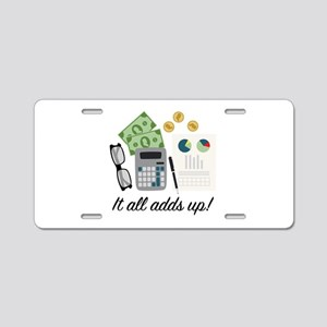 All Adds Up Aluminum License Plate