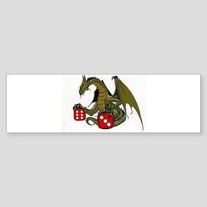 Dice and Dragons Bumper Sticker