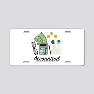 Accountant Profession Aluminum License Plate