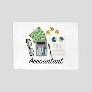 Accountant Profession 5'x7'Area Rug