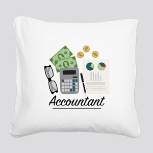 Accountant Profession Square Canvas Pillow