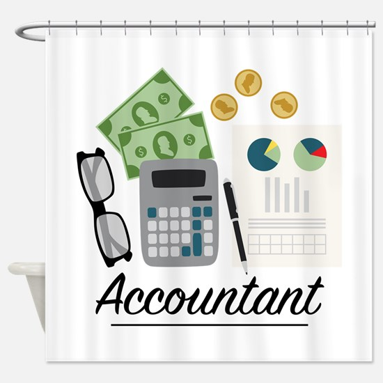Accountant Profession Shower Curtain