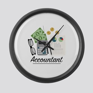 Accountant Profession Large Wall Clock