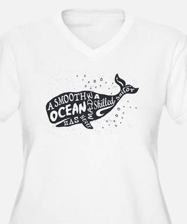 Smooth Oceans Plus Size T-Shirt