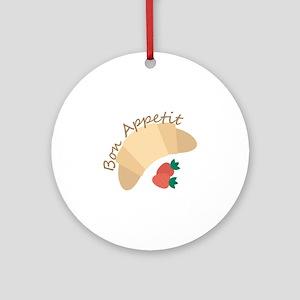 Bon Appetit Round Ornament