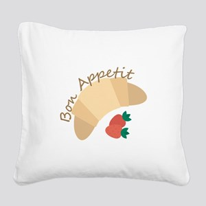 Bon Appetit Square Canvas Pillow