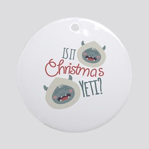Christmas Yeti Round Ornament