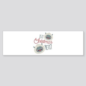 Christmas Yeti Bumper Sticker