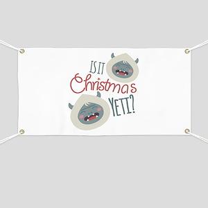 Christmas Yeti Banner