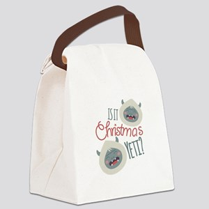 Christmas Yeti Canvas Lunch Bag