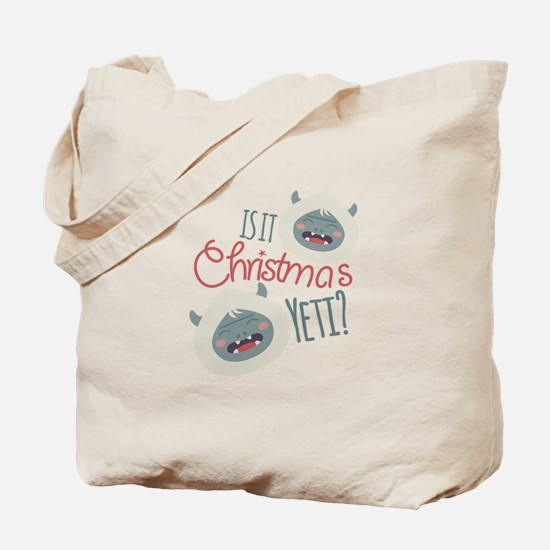 Christmas Yeti Tote Bag
