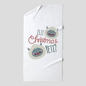 Christmas Yeti Beach Towel