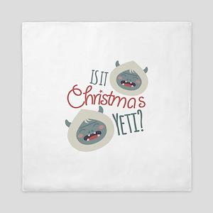 Christmas Yeti Queen Duvet