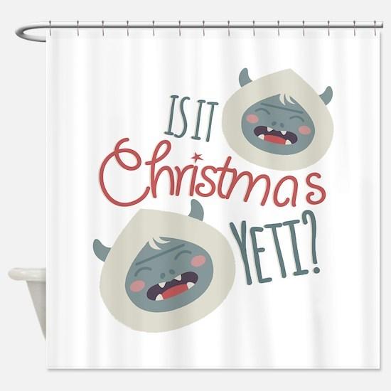 Christmas Yeti Shower Curtain