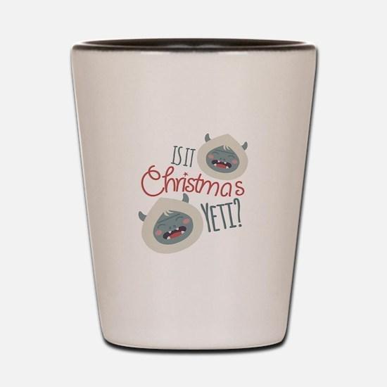 Christmas Yeti Shot Glass