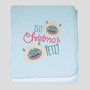 Christmas Yeti baby blanket
