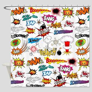 Comics Shower Curtain