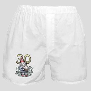 Happy 30th Birthday Gnome Boxer Shorts