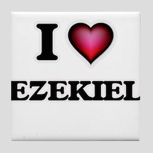 I love Ezekiel Tile Coaster