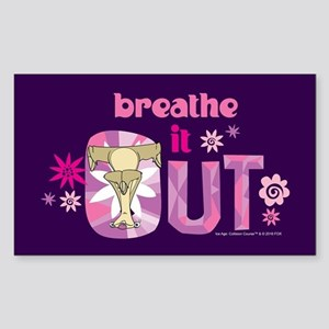 Ice Age Breathe it Out Sticker (Rectangle)