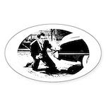 D.O.A. Oval Sticker