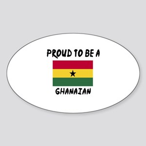 Proud To Be Ghanaian Sticker (Oval)