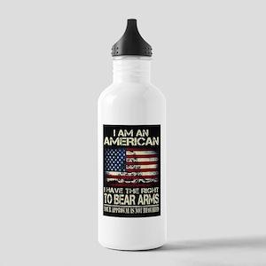 I Am An American Water Bottle