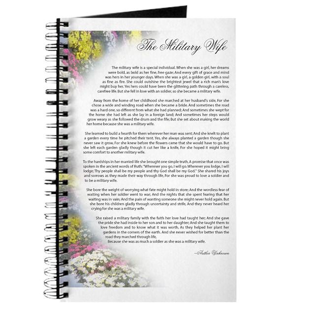 military wife poem Journal by ljgorski