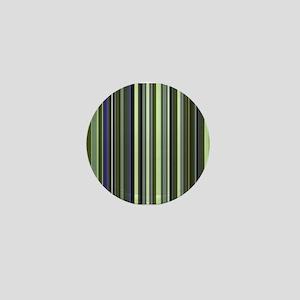 Funky 60s Earthy Stripes Mini Button