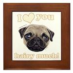 Shug The Scottish Pug Loves You Framed Tile