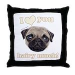 Shug The Scottish Pug Loves You Throw Pillow