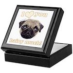 Shug The Scottish Pug Loves You Keepsake Box