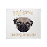 Shug The Scottish Pug Loves You Throw Blanket