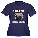 Shug The Scottish Pug Loves You Plus Size T-Shirt
