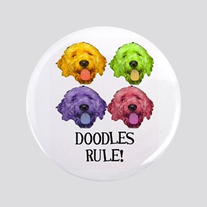 """Doodles Rule 3.5"""" Button"""