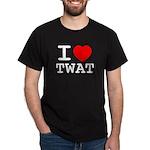 I heart twat Dark T-Shirt