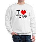 I heart twat Sweatshirt