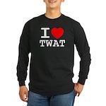 I heart twat Long Sleeve Dark T-Shirt