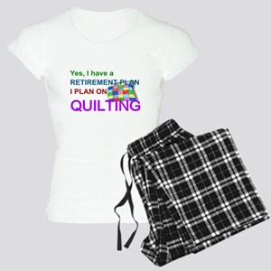 RETIREMENT PLAN - QUILTING Women's Light Pajamas