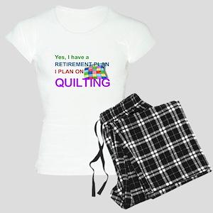 RETIREMENT PLAN - QUILTING Women's Light Pajamas
