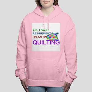 RETIREMENT PLAN - QUILTI Women's Hooded Sweatshirt