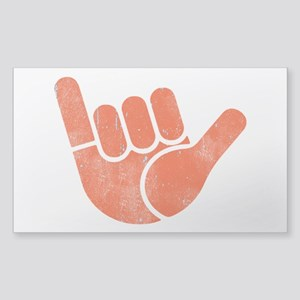 Shaka Wave Sticker (Rectangle)
