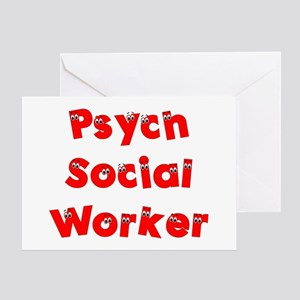Psych Social Worker Greeting Card