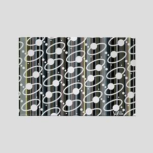 Retro Ring Stripe Rectangle Magnet
