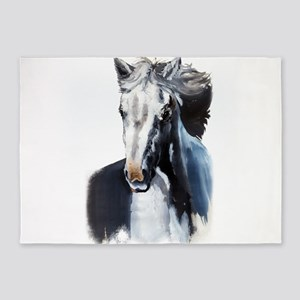 Horse Ghost 5'x7'Area Rug