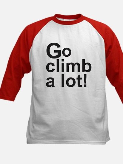 Climb a Lot Kids Baseball Jersey