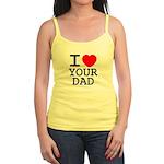 I heart your dad Jr. Spaghetti Tank